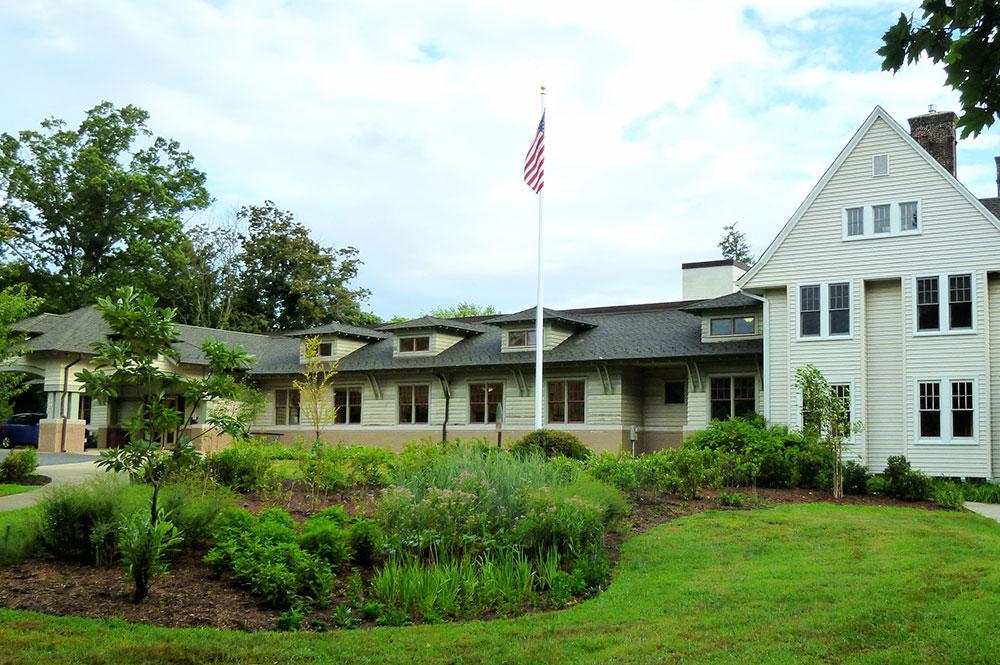 rain garden at the Monmouth County Library, Ocean Township Branch
